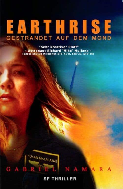 Buchcover zu EARTHRISE - Gestrandet auf dem Mond von Gabriel Namara - Genre: thriller, science-fiction