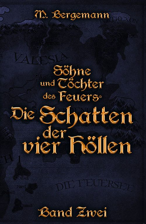 Buchcover zu Die Schatten der vier Höllen von Mike Bergemann - Genre: fantasy