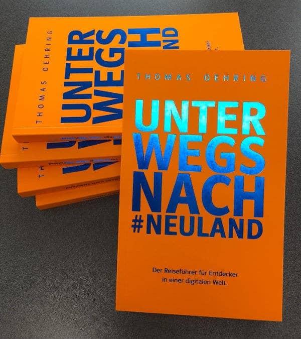 Werbebanner für Unterwegs nach #Neuland von Thomas Oehring