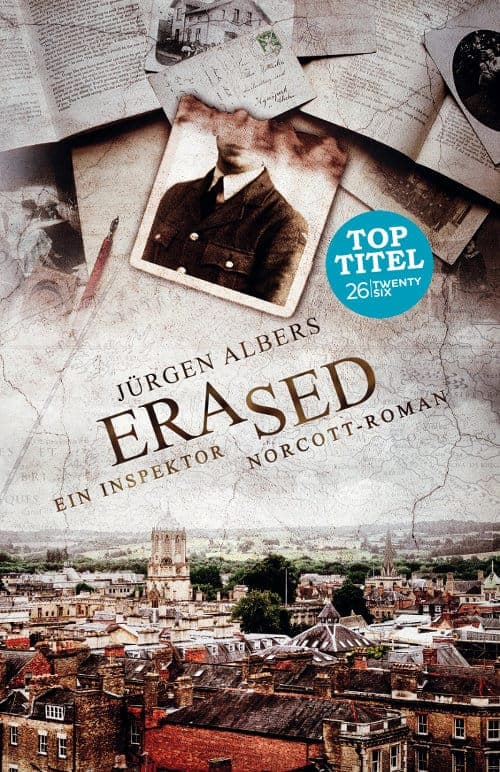 Buchcover zu Erased: Ein Charles Norcott-Roman von Jürgen Albers - Genre: thriller, krimi