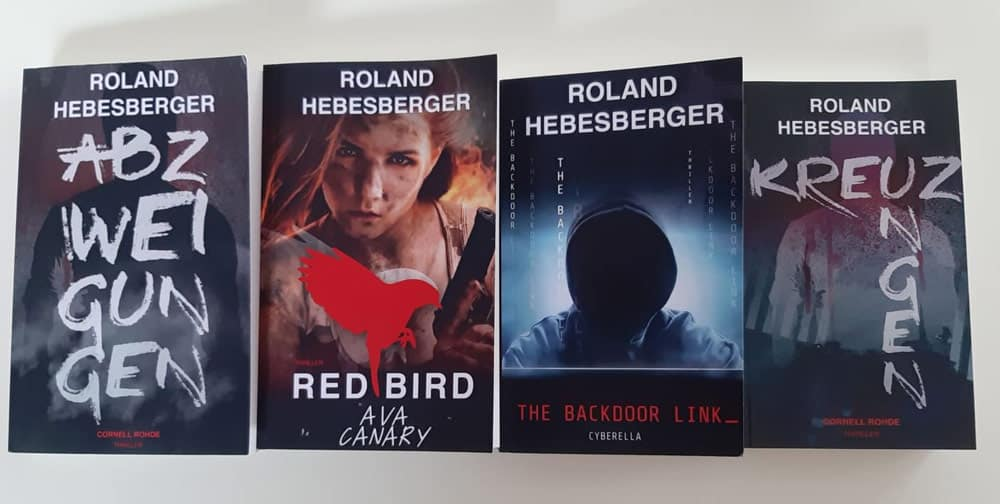 Werbebanner für The Backdoor Link – Cyberella von Roland Hebesberger