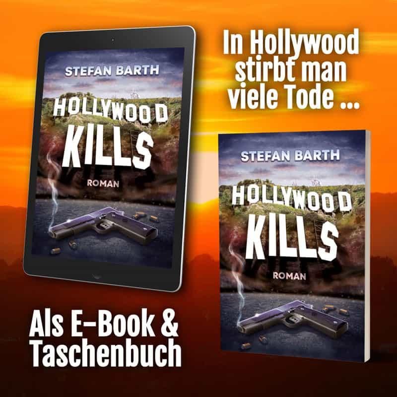 Werbebanner für Hollywood Kills von Stefan Barth